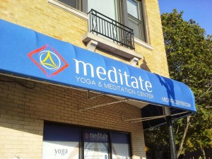 Meditate - Awning installed!
