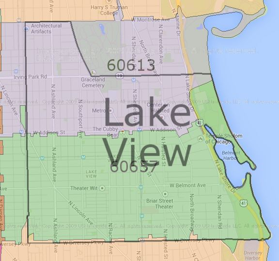 Chicago Map Lakeview