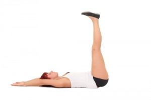 Yoga in bed pose legs up the wall