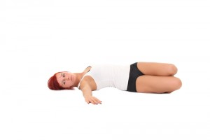 yoga in bed supine twist front