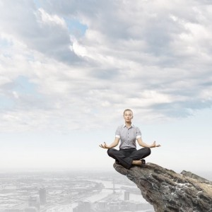 Positive Meditation Experience on Cliff